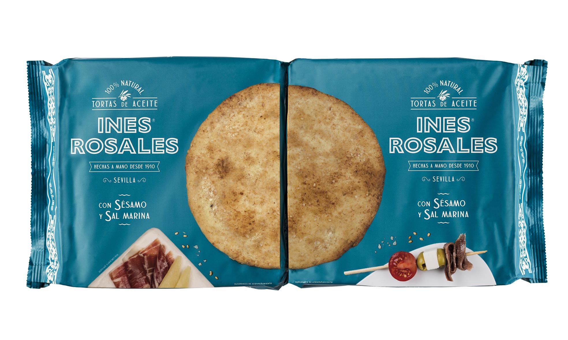 Packaging Tortas Inés Rosales con Sésamo y Sal