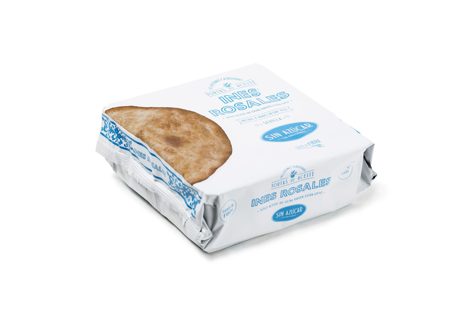 Packaging Tortas Inés Rosales sin azúcar